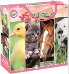 Állatos puzzle 4x100 db-os