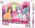 Unikornis puzzle 24 db-os
