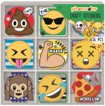 36 darabos matrica szett dobozban Emoji