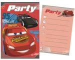 Disney Cars, Verdák Party Meghívó