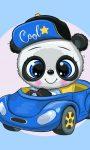 Panda Kéztörlő arctörlő, törölköző 30*50cm