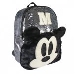 Disney Mickey 3D divattáska, táska plüss, flitteres 40 cm