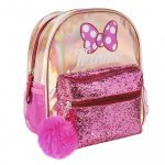 Disney Minnie divattáska, táska fényes, csillámos 26 cm