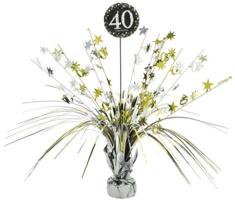 Happy Birthday asztaldísz 40