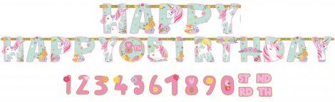Unikornis Happy Birthday Óriás felirat 320 cm