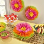 Függő pom pom dekoráció Hibiscus Flower 3 db-os