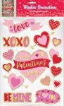 Valentine's Day, Valentín Nap Ablak matrica 15 db-os