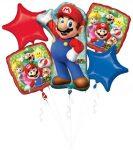 Super Mario Fólia lufi 5 db-os szett