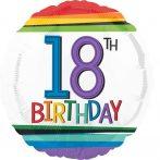 Happy Birthday 18 Fólia lufi 43 cm