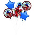 Miraculous Ladybug Fólia lufi 5 db-os szett
