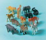 Jungle, Dzsungel műanyag figurák 12-os szett