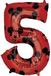 Disney Mickey Fólia lufi 5-ös 66 cm