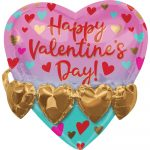 Happy Valentine's Day Fólia lufi 3D 53 cm