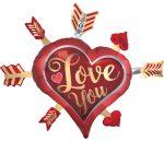 I love You, Szeretlek Fólia lufi 86 cm