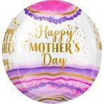 Happy Mother's Day, Boldog Anyák Napját Gömb Fólia lufi 40 cm