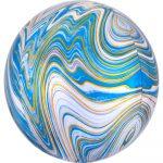 Colorful, Blue gömb fólia lufi 40 cm