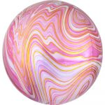 Colorful, Pink gömb fólia lufi 40 cm