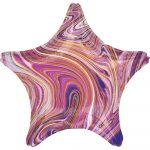 Purple Star, Lila Csillag Fólia lufi 48 cm