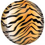Tigris csíkos Gömb fólia lufi 40 cm