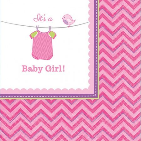Baby Girl szalvéta 16 db-os, 24,7*24,7 cm