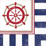 Anchors, Vasmacska szalvéta 16 db-os, 24,7*24,7 cm