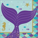 Mermaid, Sellő szalvéta 16 db-os 25*25 cm