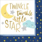 Twinkle, little star szalvéta 16 db-os 33*33 cm