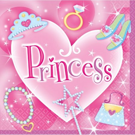 Princess, Hercegnők szalvéta 16 db-os 33*33 cm