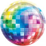 Disco Fever Papírtányér 26,7 cm