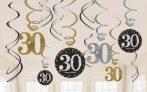 Happy Birthday 30 Szalag dekoráció 12 db-os szett