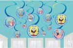 SpongyaBob Szalag dekoráció 12 db-os szett