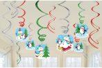 Snowman, Hóember Szalag dekoráció 12 db-os szett