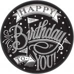 Happy Birthday Papírtányér 18 db-os 17,8 cm