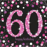 Happy Birthday 60 szalvéta 16 db-os 33*33 cm