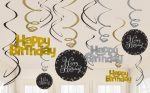 Happy Birthday Szalag dekoráció 12 db-os szett