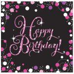 Happy Birthday szalvéta 16 db-os 32,7*32,7 cm