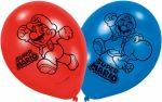 Super Mario léggömb, lufi 6 db-os