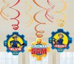 Fireman Sam, Sam a tűzoltó Szalag dekoráció 6 db-os szett