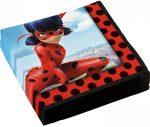 Miraculous Ladybug szalvéta 20 db-os