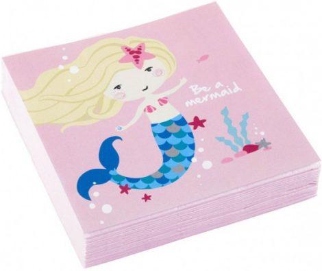 Mermaid, Sellő szalvéta 20 db-os, 24,7*24,7 cm
