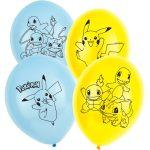 Pokémon léggömb, lufi 6 db-os