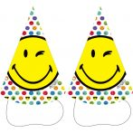 Emoji Parti kalap, csákó 8 db-os