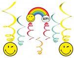 Emoji Szalag dekoráció 6 db-os szett