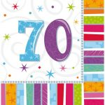 Happy Birthday 70 szalvéta 16 db-os 33*33 cm