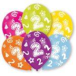 Happy Birthday 2 léggömb, lufi 6 db-os