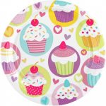 Cupcake, Muffin Papírtányér 8 db-os 18 cm