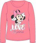 Disney Minnie gyerek hosszú póló, felső 98-128 cm