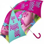 Gyerek félautomata esernyő Trolls, Trollok Ø84 cm