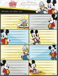 Disney Mickey füzetcímke 16 db-os