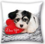 Love Dog, Kutyás párna, díszpárna 40*40 cm